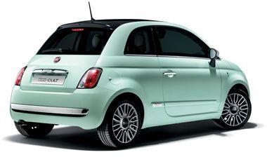 une jolie fiat 500 vert d 39 eau cabriolet s 39 il vous plait voiture pinterest voitures. Black Bedroom Furniture Sets. Home Design Ideas