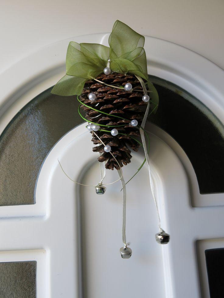 pinecone door wreath