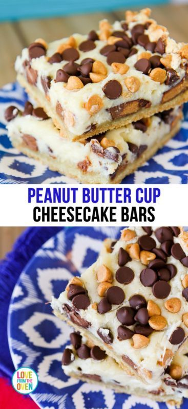 Cup Cheesecake Bars | Peanut Butter Cup Cheesecake, Peanut Butter Cups ...