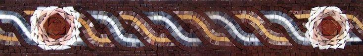 Mosaic Border - Brun