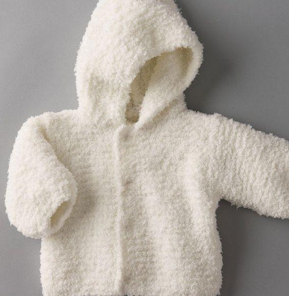 Paletot à capuche : Doux comme un doudou, léger comme une plume, blanc comme neige...Une création 100% pur confort
