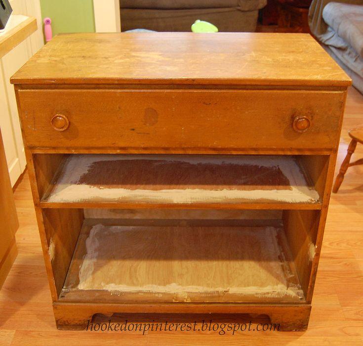 Repurposed Dresser Into Custom Kitchen Island / an amazing after ---