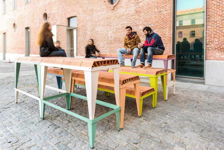 Industrialized Ceramic Elements That Create a Variety of Urban Furnishings