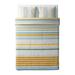 BLÅRIPS Quilt cover and 2 pillowcases, yellow - yellow - 200x200/50x60 cm - IKEA