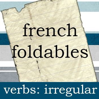 A set of foldables for many of the irregular verbs. Includes a blank template so you can add your own verbs as well.