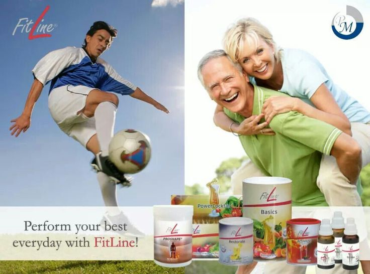 Perform your best at ANY age with FitLine products!