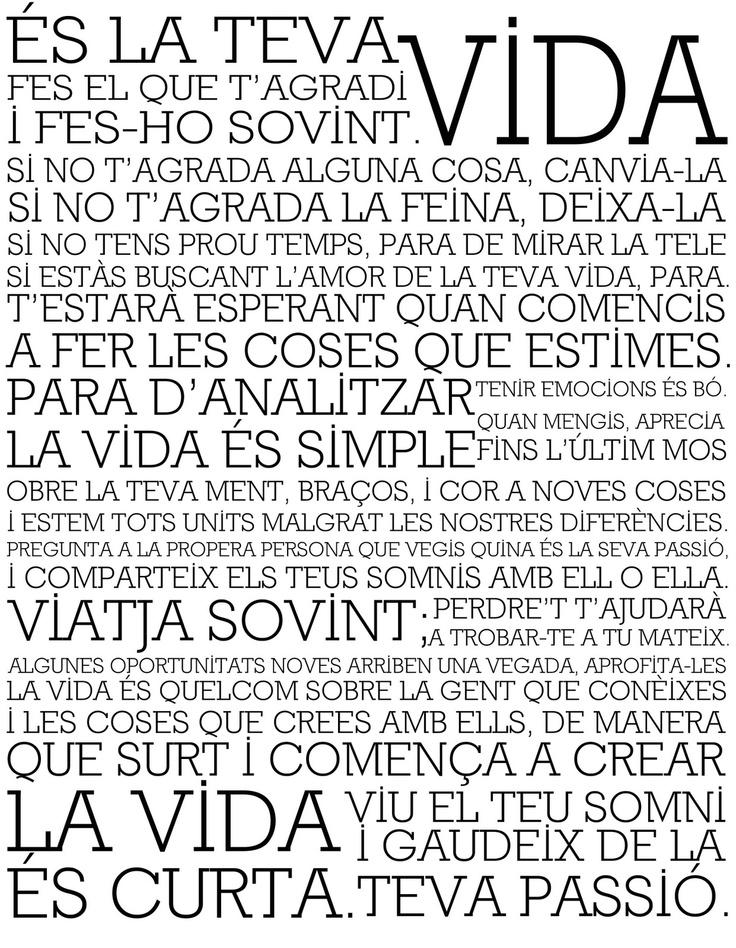 Holstee Manifest in Catalan, my language.