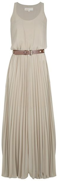 MICHAEL KORS Pleated Dress - Lyst