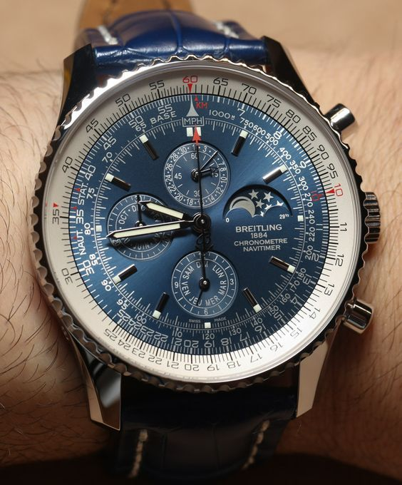 Breitling Navitimer 1461 Limited Edition Blue Watch. Sick.
