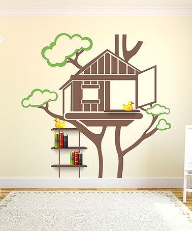 Best Treehouse Images On Pinterest Fairies Garden Doll - House wall decals