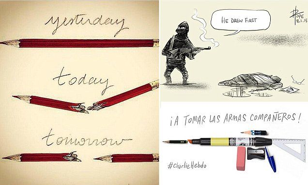 The world's cartoonists react to the Paris massacre with drawings