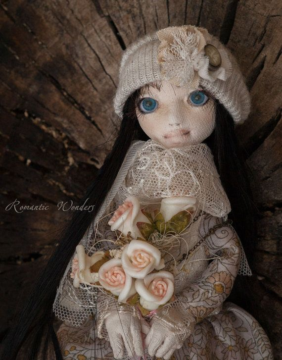 Emile and Amy. Handmade textile dolls by RomanticWonders on Etsy