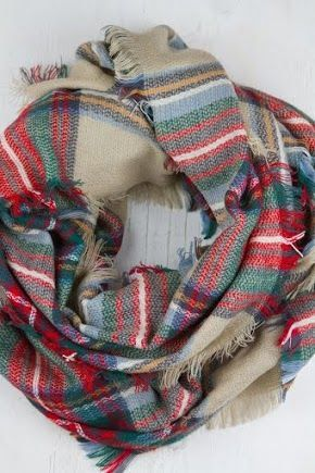 Plaid Blanket Scarf Oversized Zara Tartan Scarf Gift Ideas Accessories Bloggers Favorite Scarf, Christmas Gifts
