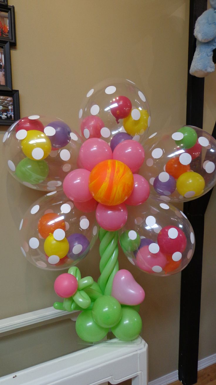 Bright colorful flower balloons