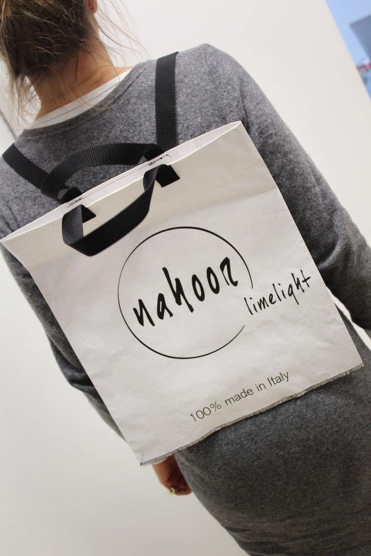 Paper Backpack for Nahoor Limelight