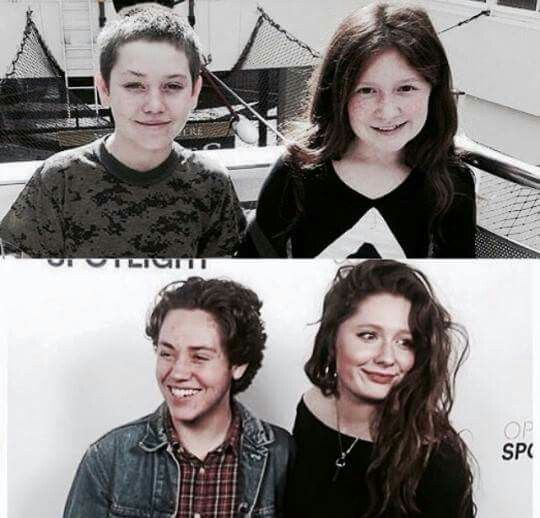 Ethan and Emma from Season one to season seven