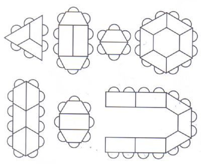 trapezoid table designs