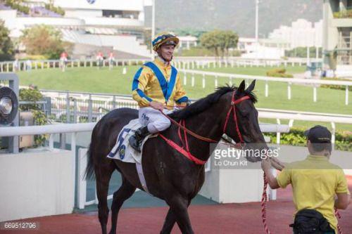 04-17 HONG KONG, HONG KONG - APRIL 17 : Jockey Zac Purton riding... #luckysk: 04-17 HONG KONG, HONG KONG - APRIL 17 : Jockey Zac… #luckysk