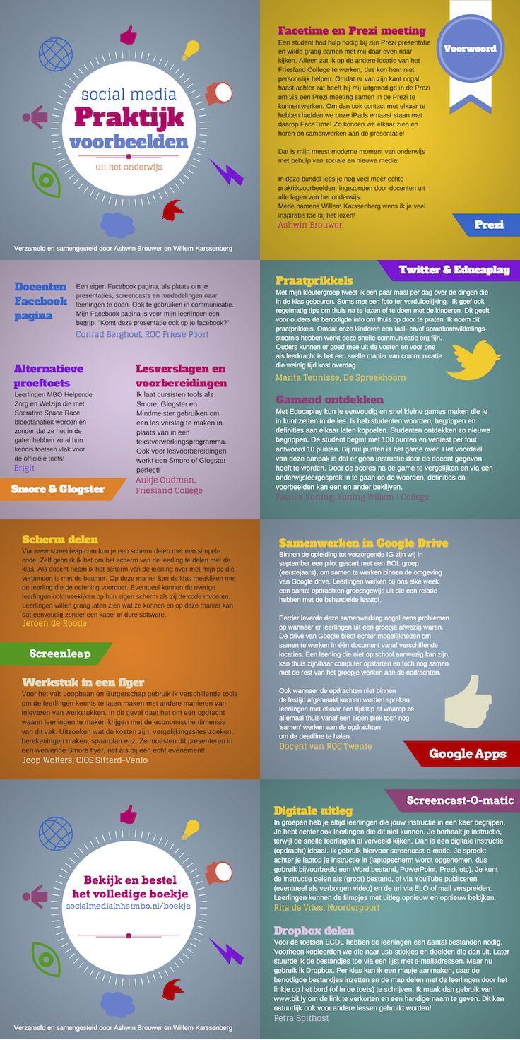 Social media: Praktijk voorbeelden uit het onderwijs. Bekijk en bestel het boekje!