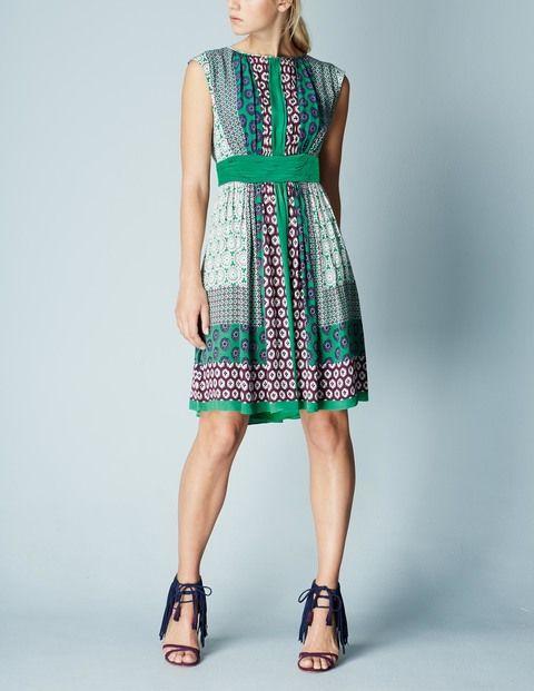 Selina Dress (Green Mandalay Hotchpotch)