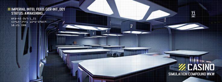 Das Casino des Trooper-Habitats der Imperial Lasertag Academy (TILTA). In echt zu bestaunen (und zu benutzen) auf Europas größer Lasertag-Simulationsfläche in Hamburg-Langenhorn.