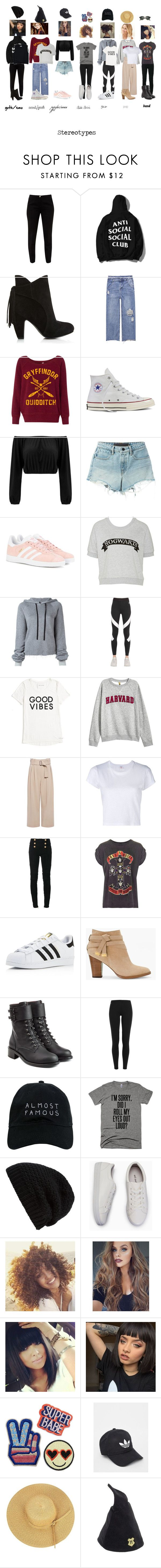 """HS stereotypes"" by kristenkelly09 on Polyvore featuring Ted Baker, Converse, T By Alexander Wang, adidas Originals, Unravel, NIKE, Tommy Hilfiger, A.L.C., RE/DONE and Balmain"