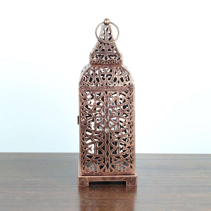 Moroccan Copper Lantern Table Lamp