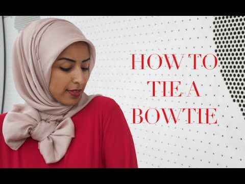 HOW TO tie a BOWTIE hijab style - [Thehijabstylist.]