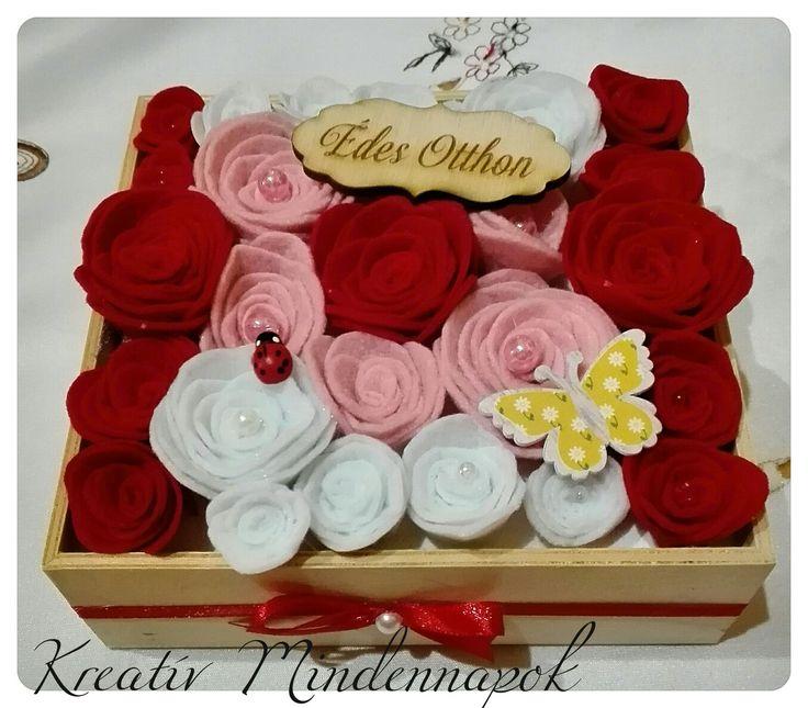 Filc virágbox - Felt flowerbox