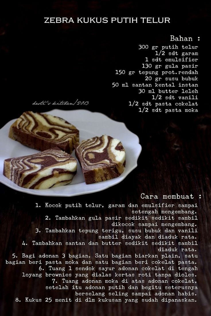 HESTI'S KITCHEN : yummy for your tummy: Zebra Kukus Putih Telur