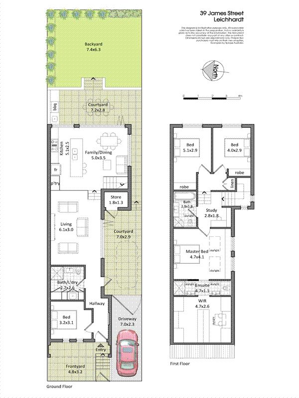Similar sized mezzanine lawn. Box stairs in the middle of the open plan