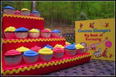 Curious george cupcake display