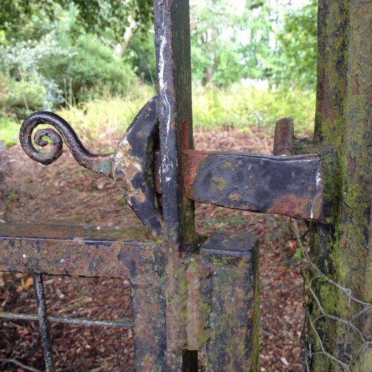 The garden gate latch at Leckford Estate, Hampshire, England