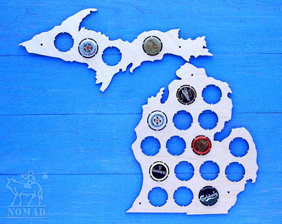Best Beer Cap Map Images On Pinterest Beer Cans Beer Caps And - Michigan bottle cap map