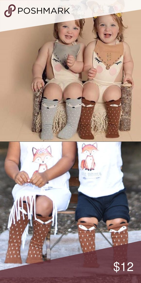 << Baby Toddler Fox Socks >> New!! The perfect little fox socks! So cute for year round wear! Boutique Accessories Socks & Tights
