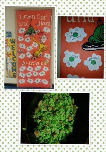 Green Eggs And Ham Door Classroom Ideas Pinterest