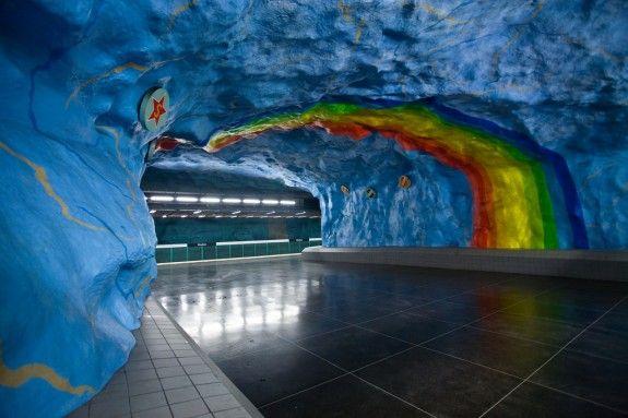 Stockholm's Metro Art. Simply amazing!