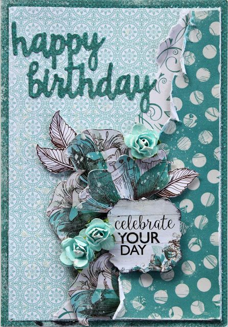 Kaisercraft - Sea Breeze - Happy Birthday Card