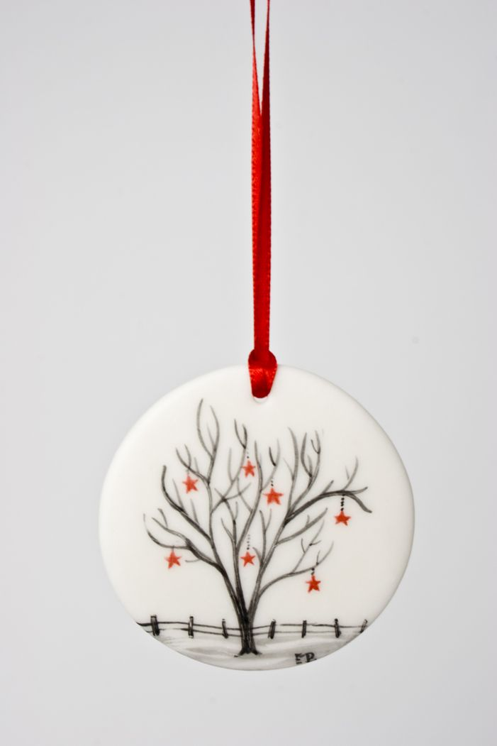 Christmas ornament by Elizabeth Burritt (Medicine Hat, AB). Member of the Alberta Craft Council