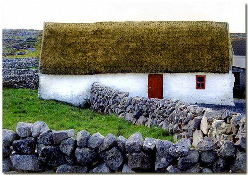 County Galway, Ireland by Finding.Ireland: Simple Beautiful, Things I Love,  Thatched Roof, Country Cottages, Irish Country, Irish Cottages, St. Patrick'S Day, Cottages Decor, St Patrick'S Day