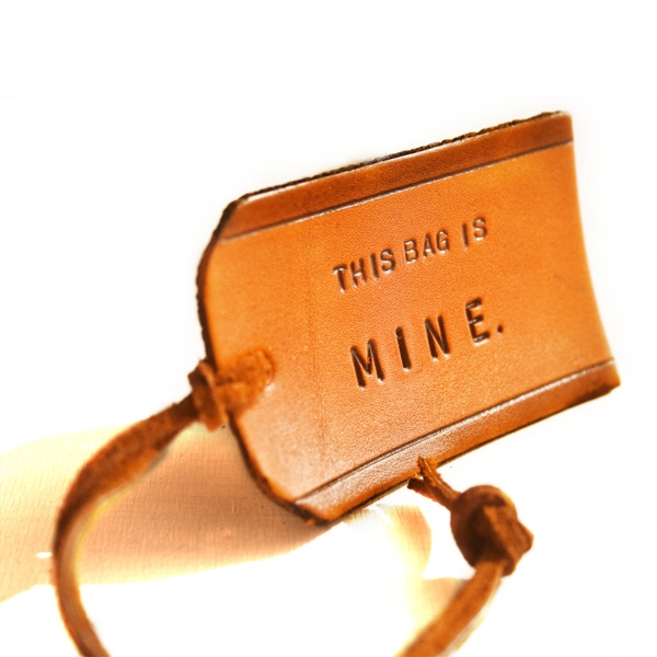this bag is mine leather bag tag: Travel Gifts, Mine Leather, Bags Tags, Style, Mine Luggage, Accessories, Travel Destinations, Leather Bags, Luggage Tags