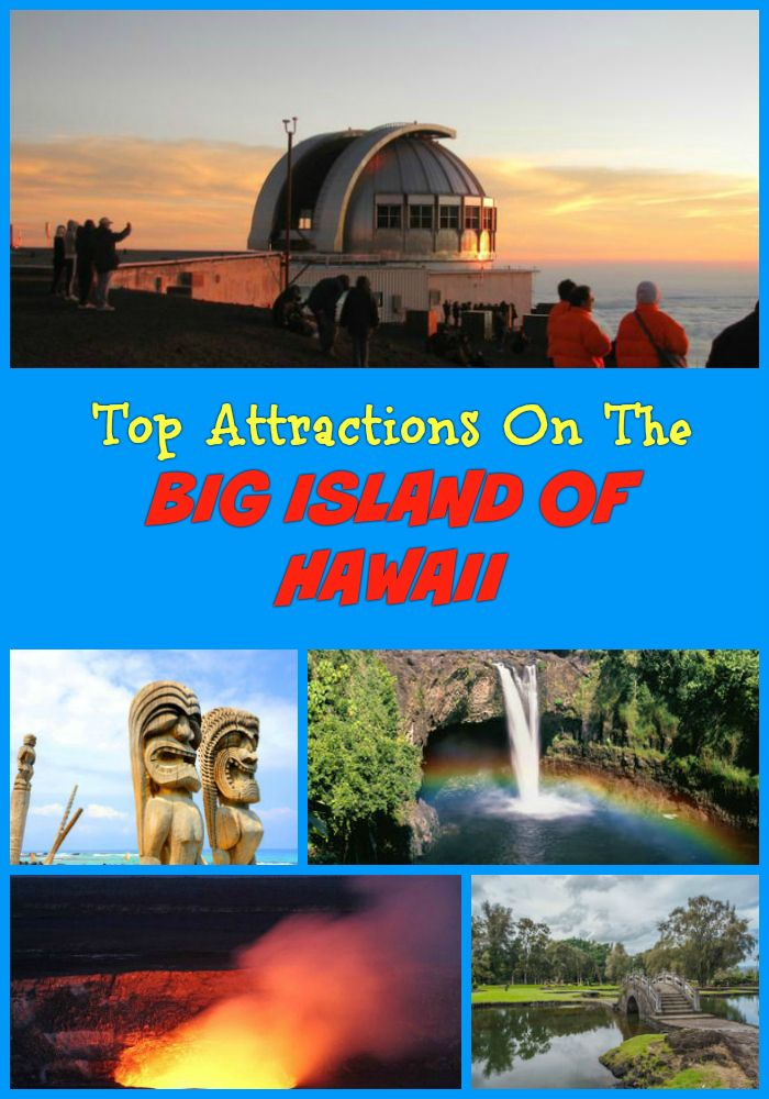 Top Big Island Attractions not to miss for tourists - Hawaii Volcanoes National Park, Thurston Lava Tube, Mauna Kea Summit & Observatory, Waipi'o Valley, Kona (Kailua-Kona), Isaac Hale Beach Park and other landmarks and points of interest