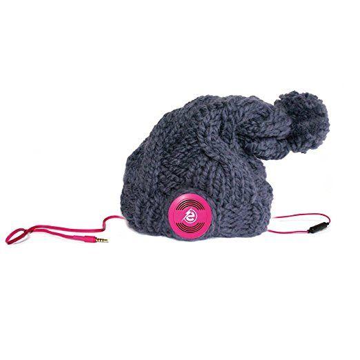 Earebel powered by AKG ERH250301 Handmade Plait Long 'Buckland' Mütze Kopfhörer, medium, pink