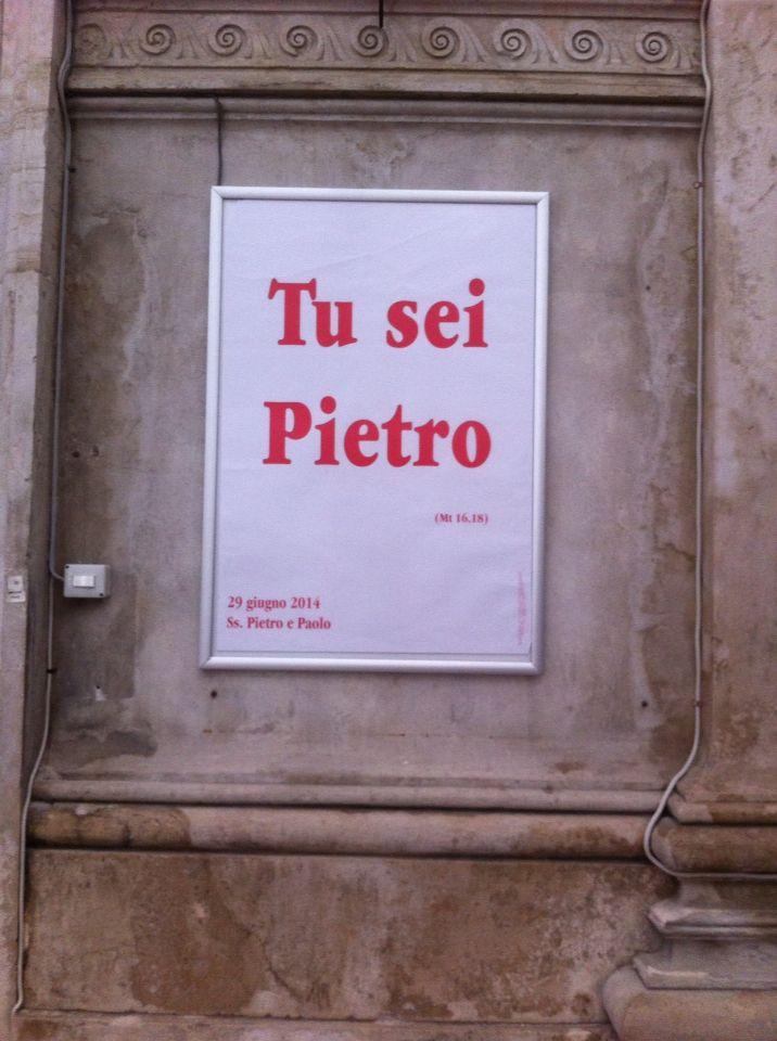 Tu sei Pietro