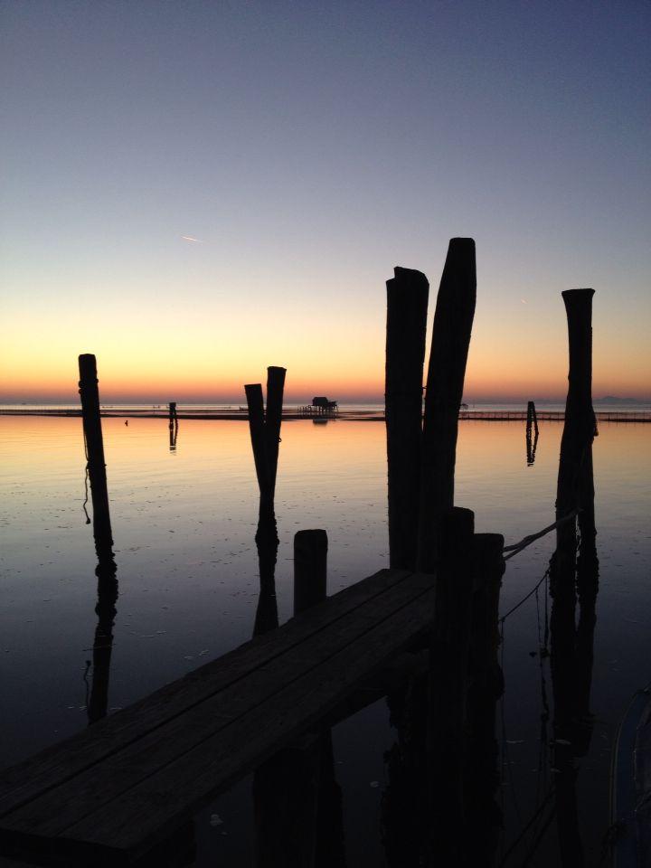 Pellestrina, Venice, beautiful sunset
