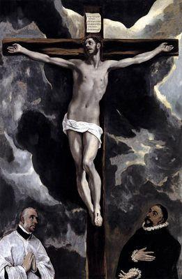 Christ sur la croix, par El Greco