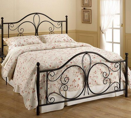 the milwaukee bed features traditional post and finial silhouette that is captured by a tear drop - Sleepys Bed Frame