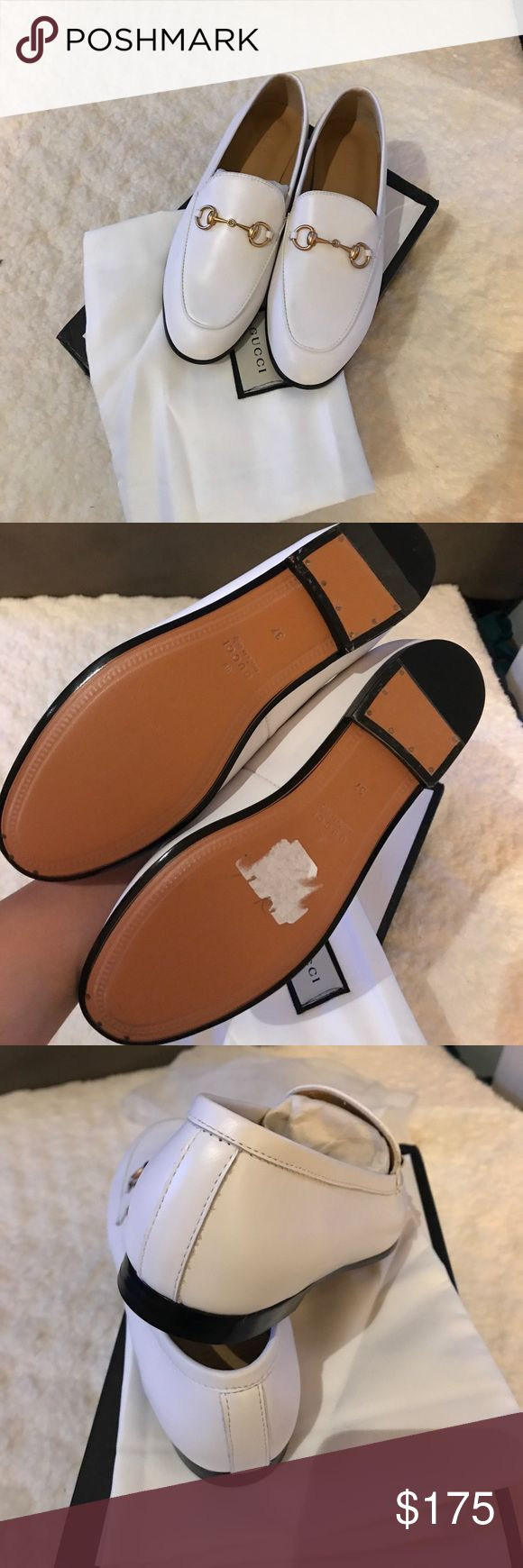 Brand New White Gucci Loafers Never been worn (real) leather white Gucci Oxfords. Super high quality!! Price reflects authenticity. Box and dust bag are included!!! Fits true to size Gucci Shoes Flats & Loafers