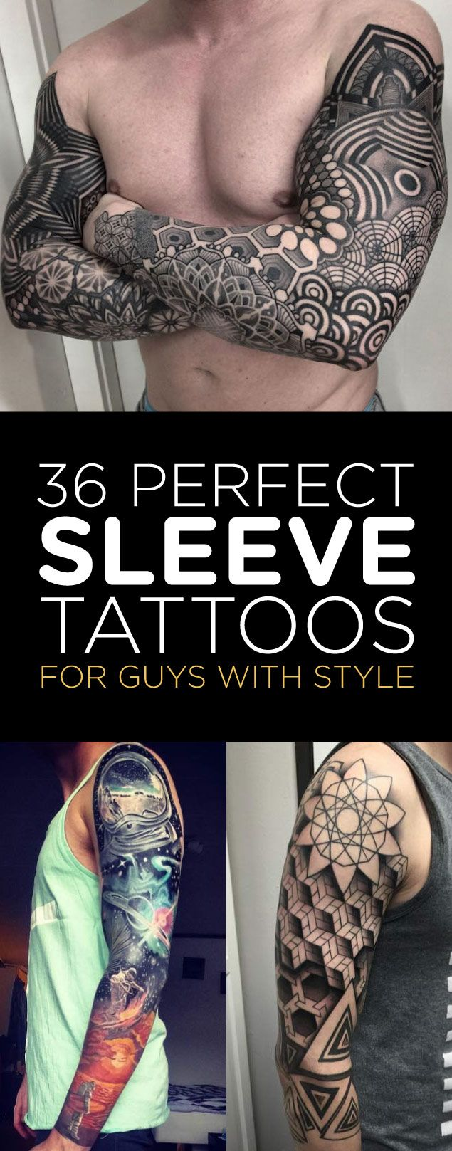 36 Perfect Sleeve Tattoos for Guys With Style