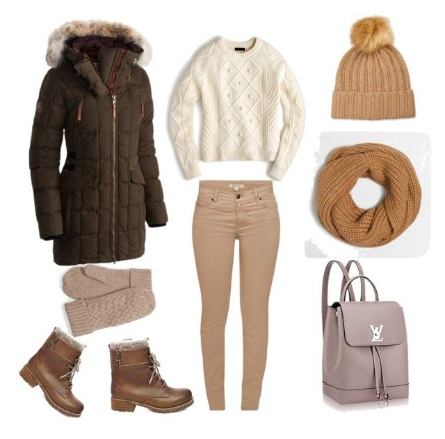 """Cool winter"" by elina-fayzulina on Polyvore featuring мода, J.Crew, Barbour, Steve Madden, SOREL и Neiman Marcus"